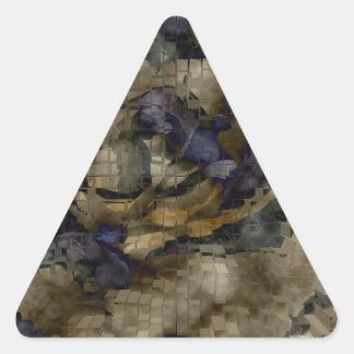 Explosión diseñada #10 pegatina triangular