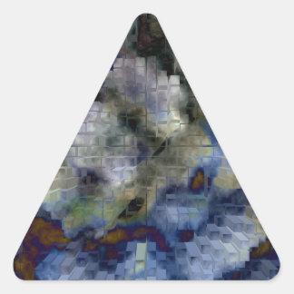 Explosión diseñada #11 pegatina triangular
