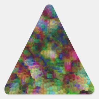 Explosión diseñada #12 pegatina triangular