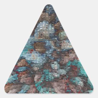 Explosión diseñada #2 pegatina triangular