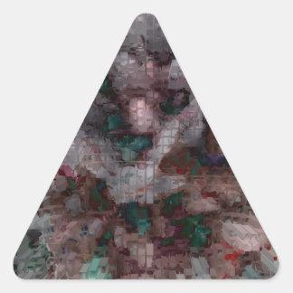 Explosión diseñada #5 pegatina triangular