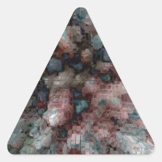 Explosión diseñada #6 pegatina triangular