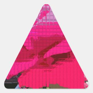 Explosión diseñada #7 pegatina triangular