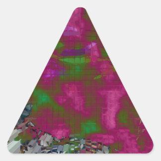 Explosión diseñada #9 pegatina triangular