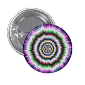 Explosión en el botón verde y azul violeta