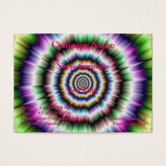 Explosión en la tarjeta verde y azul violeta