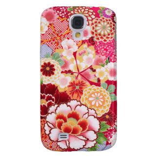Explosión floral roja de Falln Funda Samsung S4