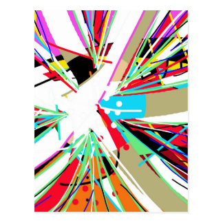 Explosión grande colorida postal