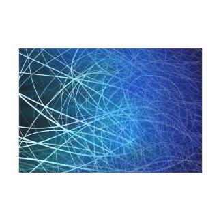 Explosión linear ciánica - impresión de la lona