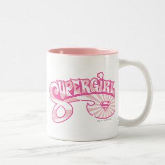 Explosión rosada de la estrella del logotipo de taza de dos tonos