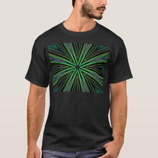 Explosión verde fluorescente de neón de la camiseta