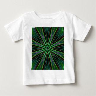 Explosión verde fluorescente de neón de la camiseta de bebé