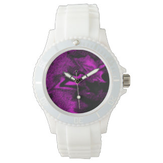 Explosión violeta reloj