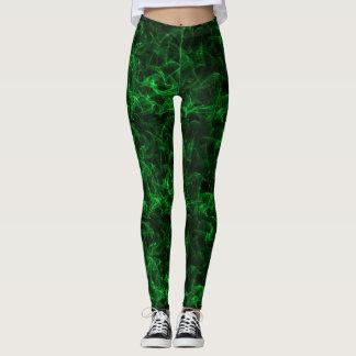 explosiones del fondo negro verde jugoso leggings