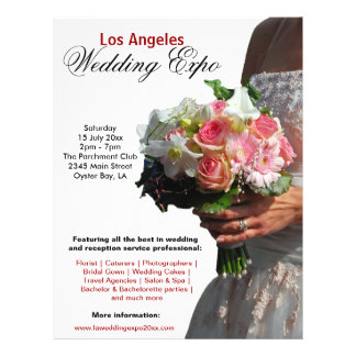 Expo del boda folleto 21,6 x 28 cm