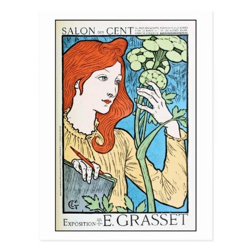 Expo hermosa Eugene Grasset del anuncio del vintag Postales