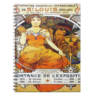 Exposición 1903 de Alfons Mucha Universelle Cuaderno