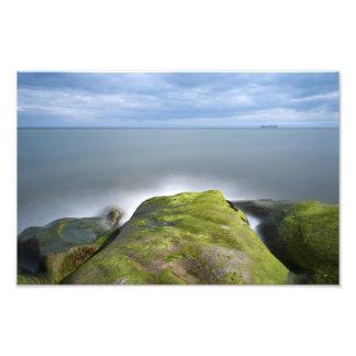 Exposición larga del paisaje marino escocés arte fotografico