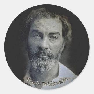 Expresión a los ojos de Walt Whitman Pegatina Redonda