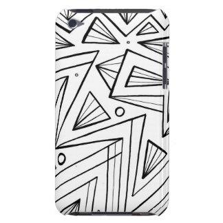 Expresión abstracta de Dhosane blanco y negro iPod Case-Mate Cárcasas