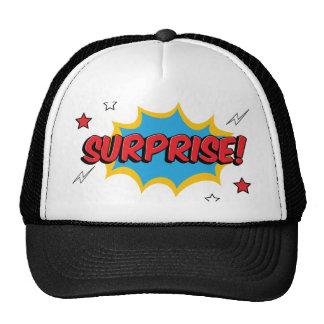 Expresión cómica de la sorpresa gorras de camionero