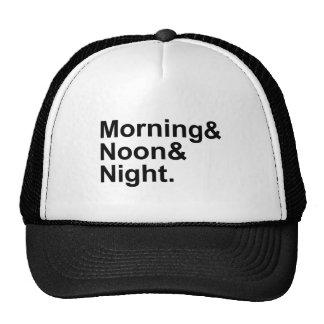 Expresión común de la frase de la mañana, del gorras
