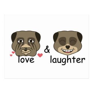 Expresión del amor y de la risa postal