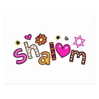 Expresión linda del texto del saludo de Shalom Postal