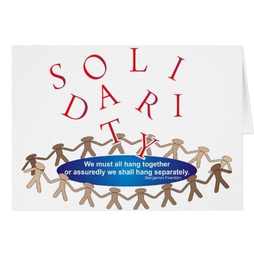 Expresiones de la solidaridad tarjeta