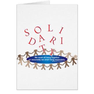 Expresiones de la solidaridad tarjeta de felicitación