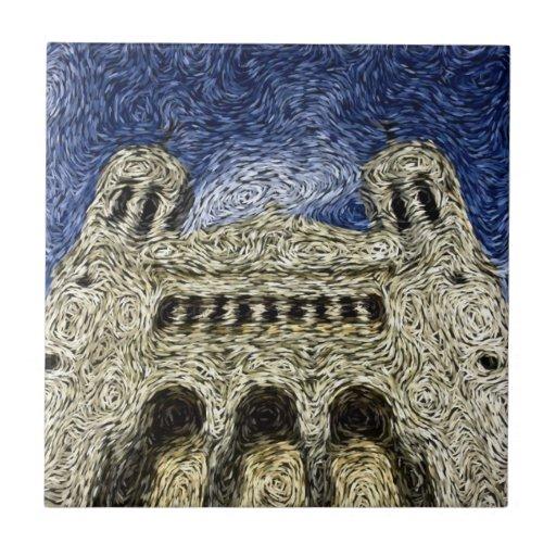 Expresionismo de Digitaces: Basilica de Fourvière Azulejo