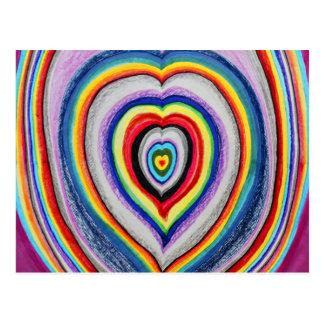 Extensión de los corazones del amor postal