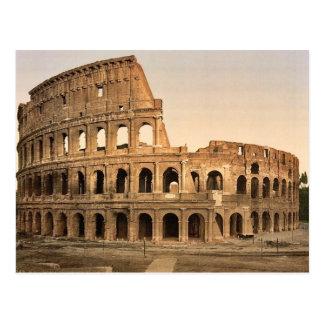 Exterior del coliseo, obra clásica Phot de Roma, Postal