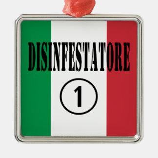 Exterminators italianos: Uno de Disinfestatore Adorno Cuadrado Plateado