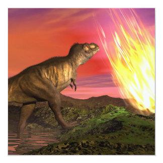 Extinción de dinosaurios - 3D rinden Invitación 13,3 Cm X 13,3cm
