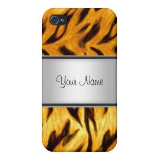 Extracto 4s de la mirada del tigre iPhone 4 protectores