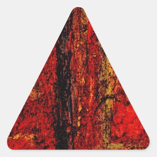 Extracto africano rojo de la estructura colcomanias de triangulo personalizadas