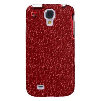 Extracto agrietado rojo iPhone3G Funda Para Galaxy S4