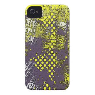 Extracto amarillo del Grunge iPhone 4 Carcasa
