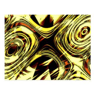 Extracto amarillo y negro del movimiento valiente  postal