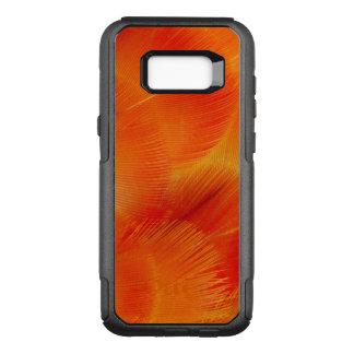 Extracto anaranjado de la pluma del Macaw de Funda Commuter De OtterBox Para Samsung Galaxy S8+