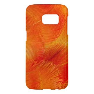 Extracto anaranjado de la pluma del Macaw de Funda Samsung Galaxy S7