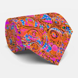 Extracto anaranjado rosado fluorescente corbatas personalizadas