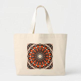 Extracto anaranjado y negro bolso de tela gigante