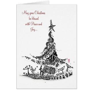 Extracto: árbol de navidad tarjeta de felicitación