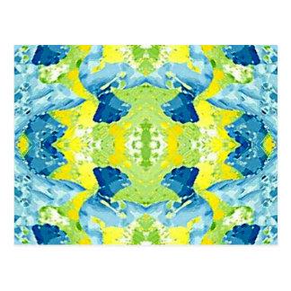 Extracto artístico moderno de la verde lima azul postal