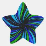Extracto azul de la cal - todos los caminos llevan colcomanias forma de estrella