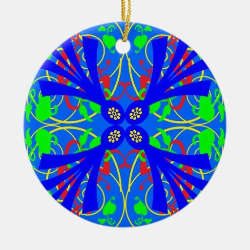 Extracto azul de la flor adorno de navidad