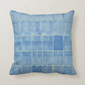 Extracto azul del rectángulo cojín decorativo