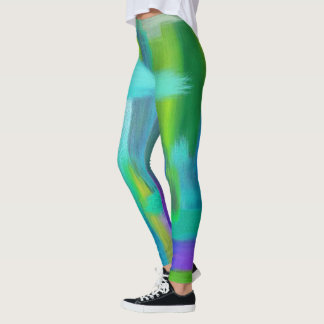Extracto azul y verde PJ Leggings